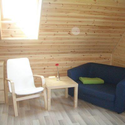 Dom całoroczny w Kopalinie - sypialnia na poddaszu